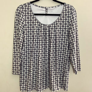 Land's End Medallion Print Knit Top